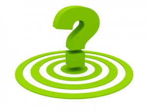 Question Mark On Green Target