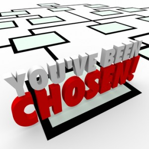 You've Been Chosen 3d Words Company Organization Chart Promotion