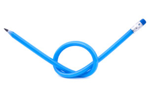 Blue Pencil in a knot